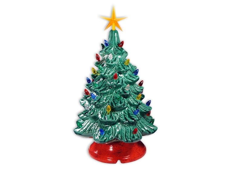 Vintage Ceramic Christmas Tree Christmas In July Edition Art On The Rocks